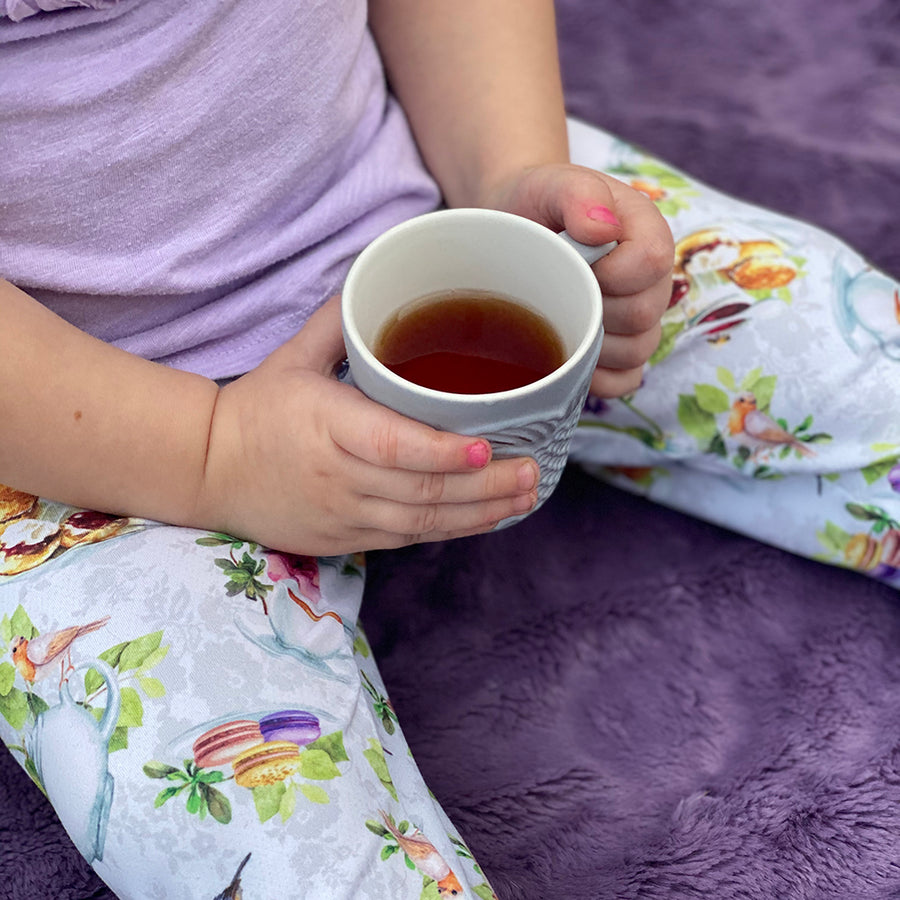 bumblito - leggings - Tea Party - baby and toddler leggings - English tea time print leggings