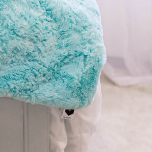 bumblito - Everyday Plush Blanket - Salt Water color - luxury large blanket - large two person soft blanket - blue green ocean color blanket
