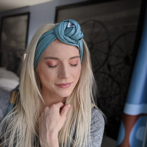 Tie-On Headband - Seafoam
