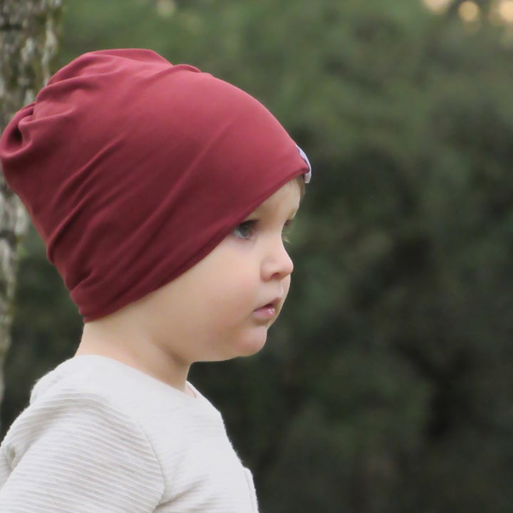 bumblito - slouch beanie - Burnt Sienna - adult and toddler slouch beanie - burnt orange lightweight beanie