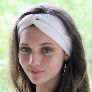 bumblito - adult headband - Basic white adult headband - Solid white stretchy headband - matching kids and adult headband