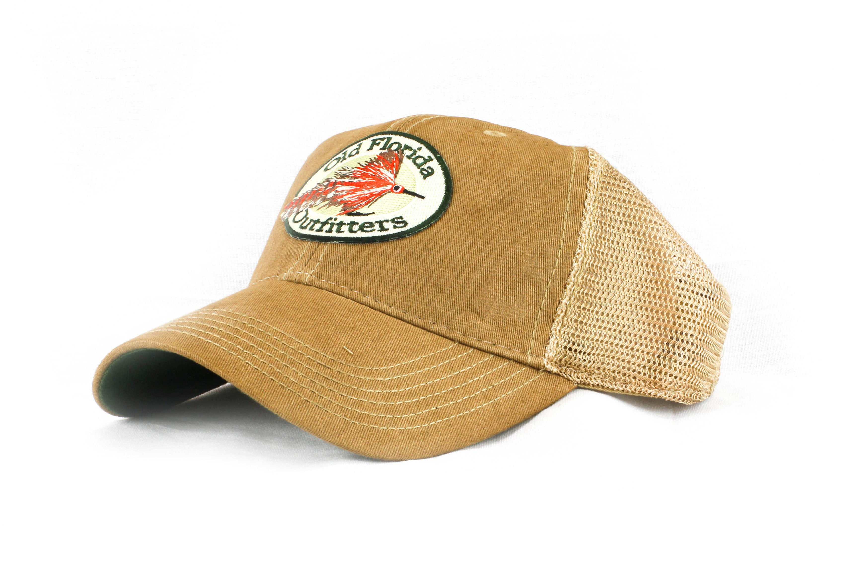 792a02507773e OFO Logo OLD FAVORITE Soft Trucker in Tan