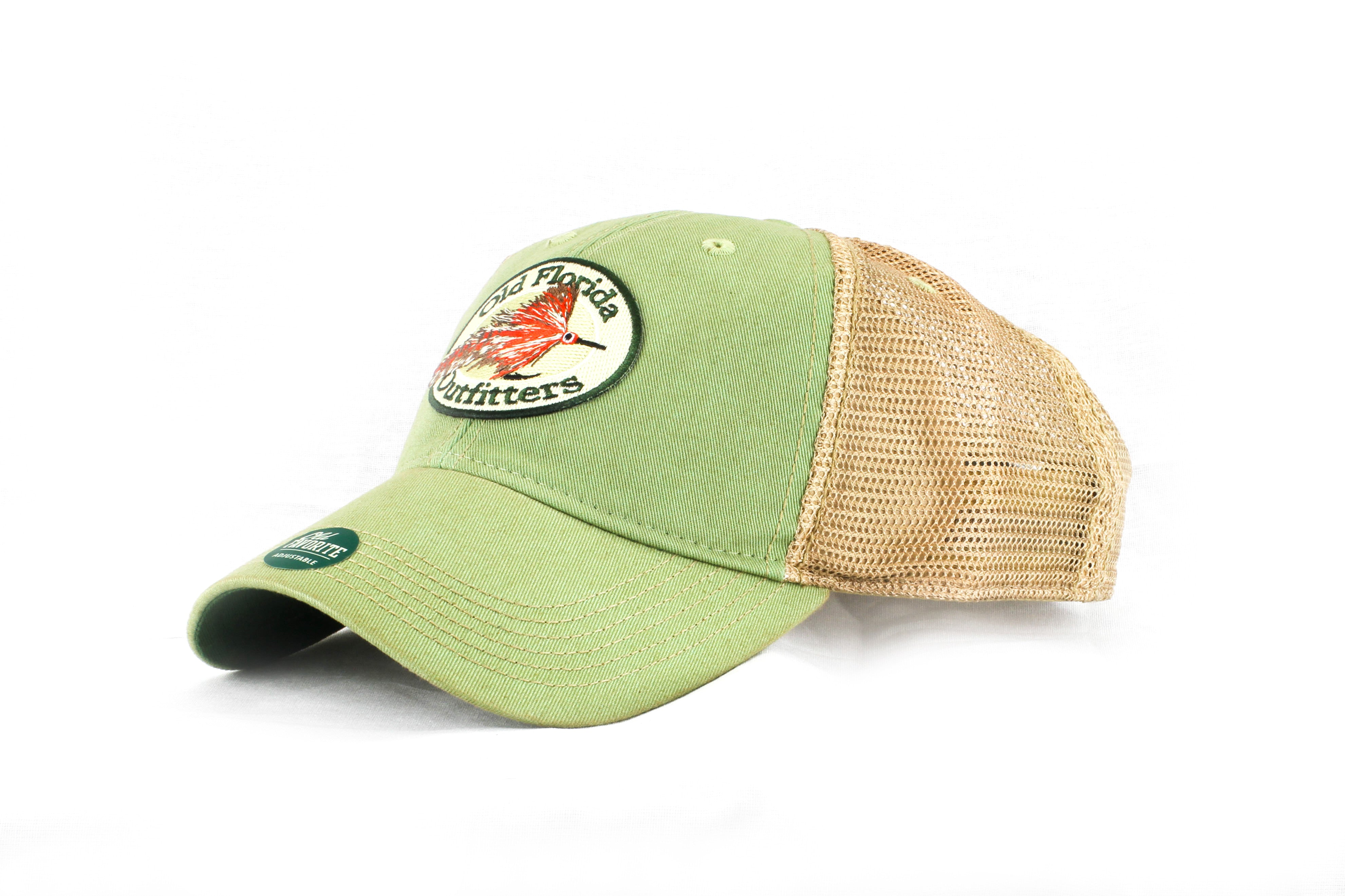 8fe02594035 OFO Logo OLD FAVORITE Soft Trucker in Sage - Old Florida Outfitters