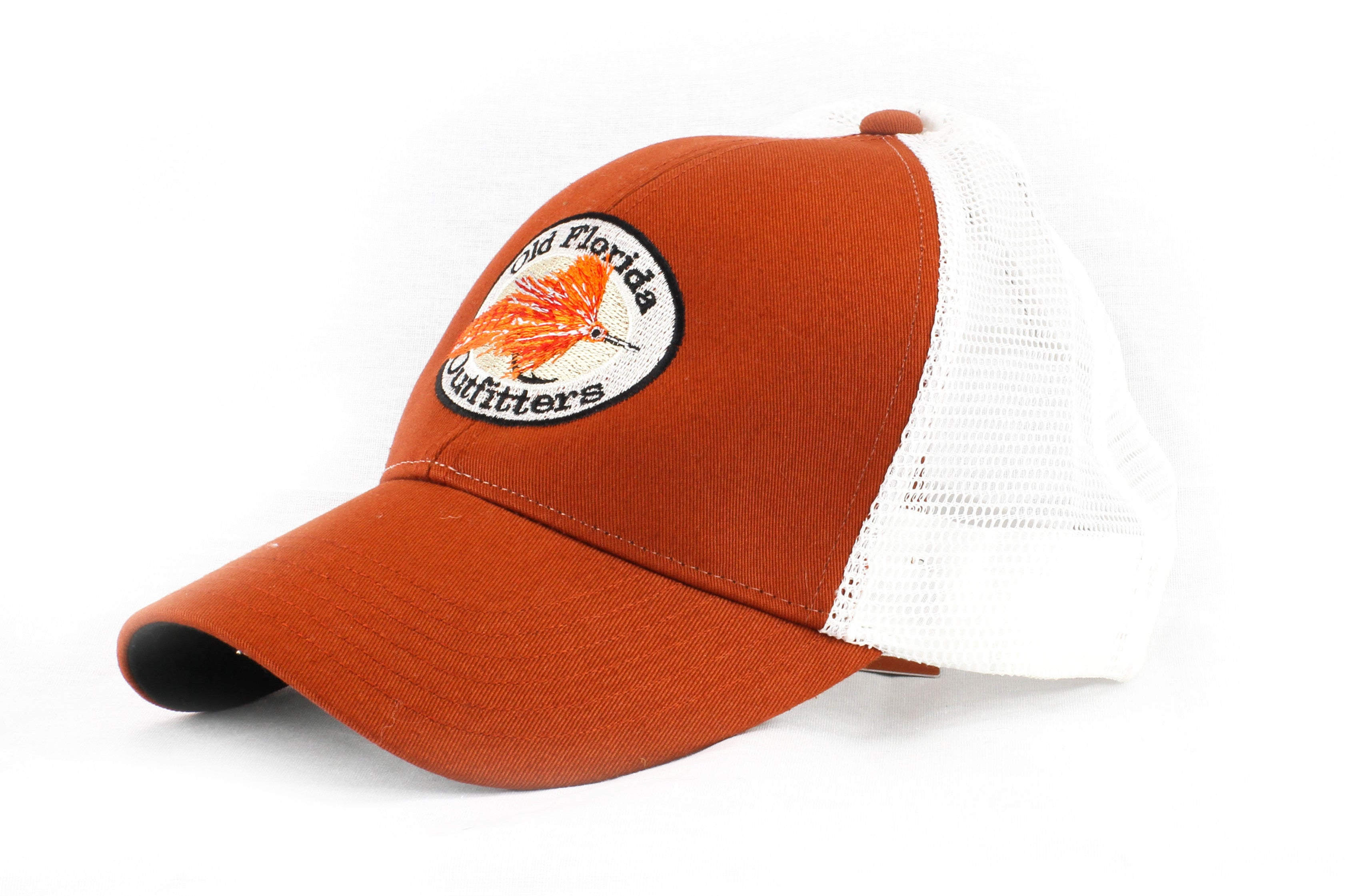 410266eac44 Simms Trucker OFO Logo Cap in Simms Orange - Old Florida Outfitters
