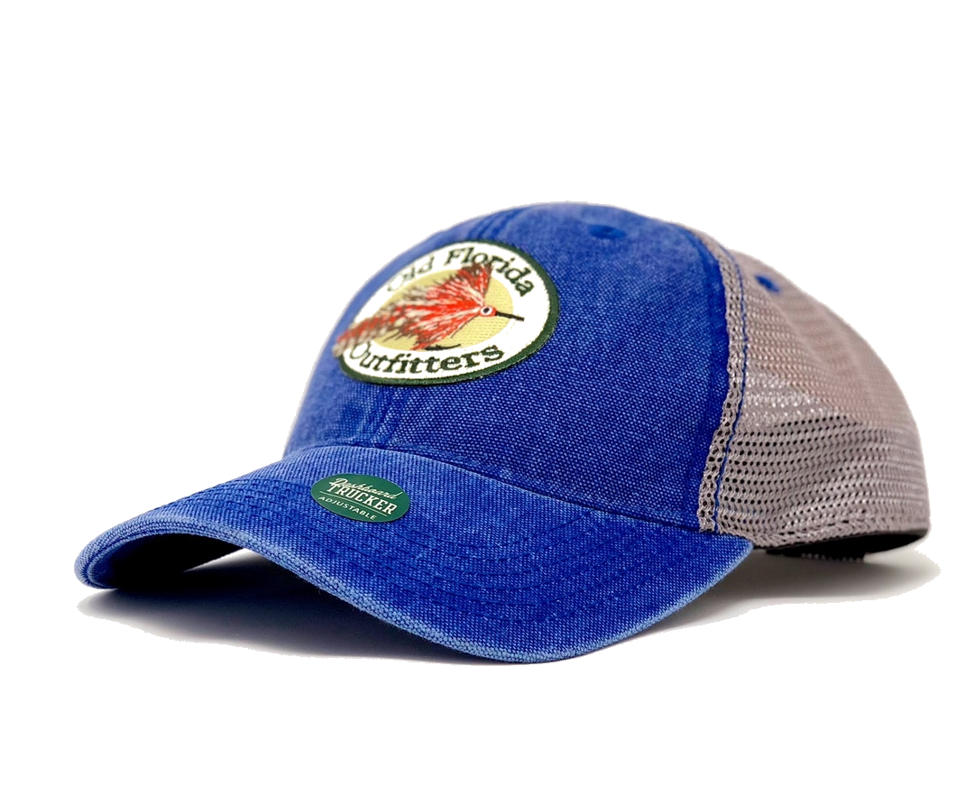 ab9f69d748fdc OFO Logo Dashboard Trucker in Light Wash Royal - Old Florida Outfitters