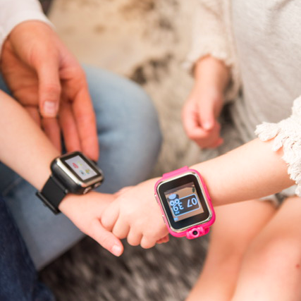 iTouch PlayZoom Smartwatch For Kids: Navy with Astronaut Print