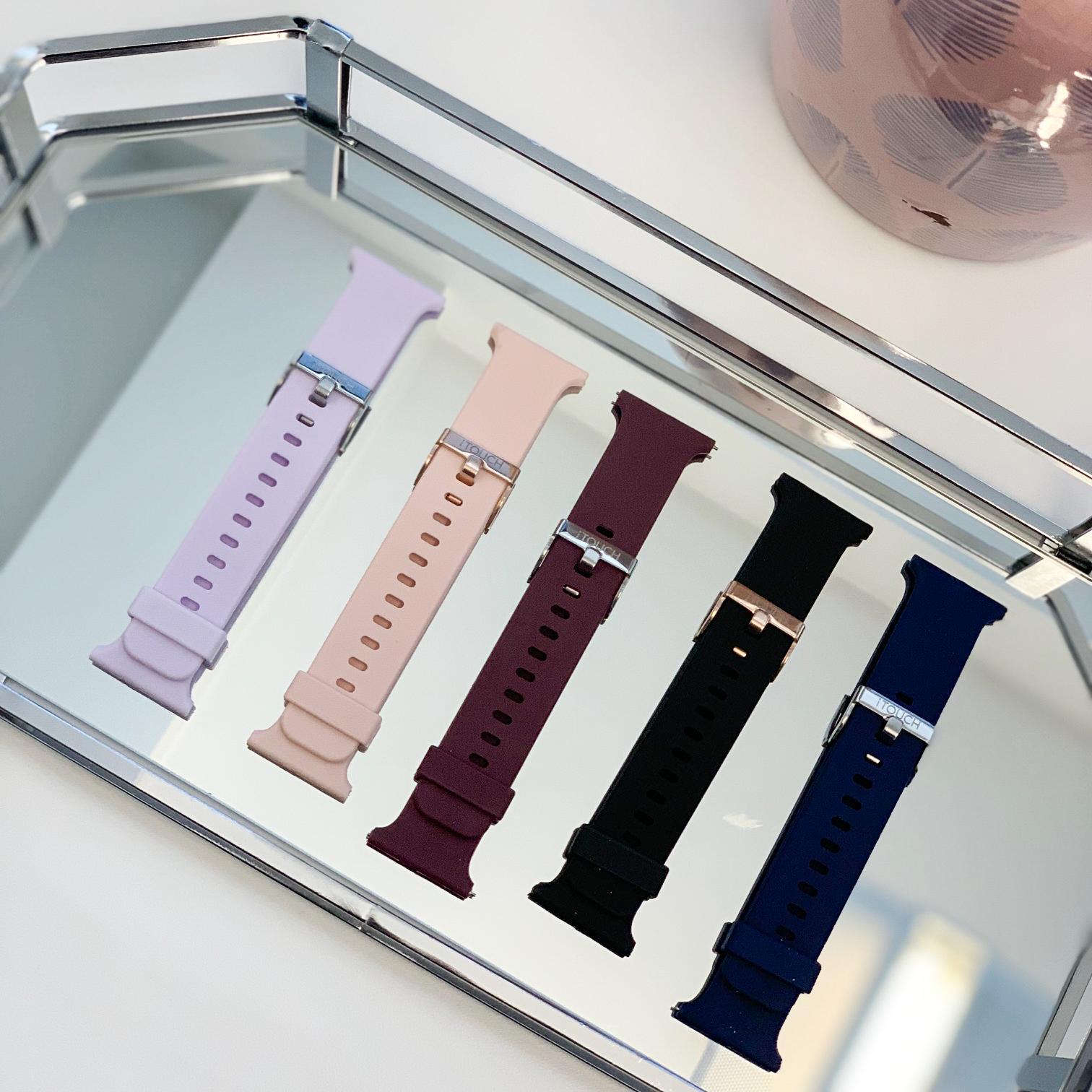iTouch Air 2 Smartwatch Strap: Blush with Silver Buckle
