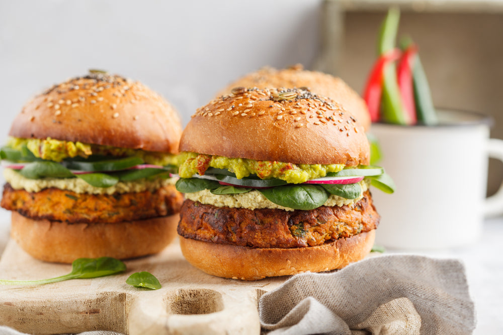 Chickpea Guac Burger Recipe