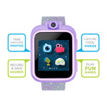 iTouch PlayZoom Smartwatch For Kids: Pink/Purple Glitter Print