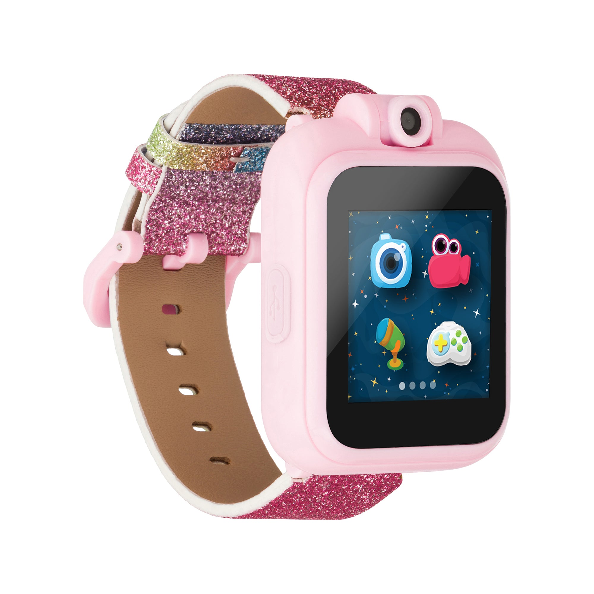 PlayZoom Smartwatch For Kids: Rainbow Glitter Print