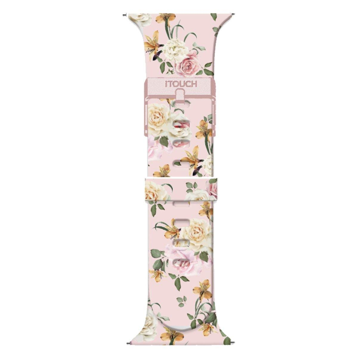 iTouch Air SE Silicone Strap: Blush Floral