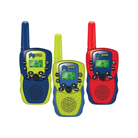 PlayZoom Walkie Talkies 3 pack, Multi