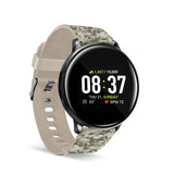 iTouch Sport Smartwatch: Black Case With Green Camouflage Strap