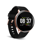 iTouch Sport Smartwatch: Rose Gold Case With Black Strap