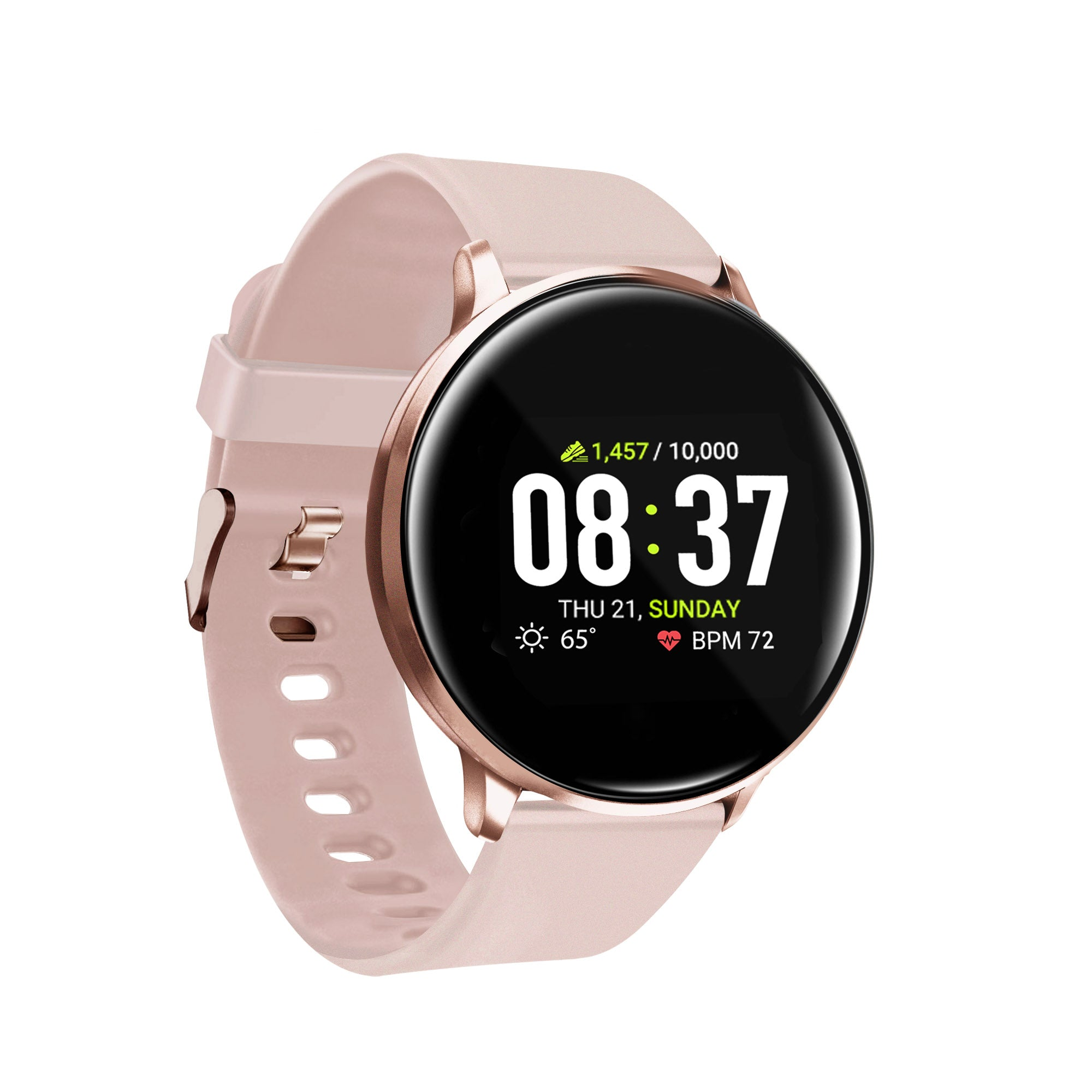 iTouch Sport Smartwatch: Rose Gold Case With Blush Strap