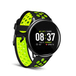 iTouch Sport Smartwatch: Black Case With Black/Lime Perforated Strap