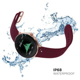 iTouch Sport 3 Smartwatch: Rose Gold Case with Merlot Strap