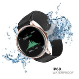 iTouch Sport 3 SE Smartwatch: Rose Gold Crystal Case with Black Mesh Strap