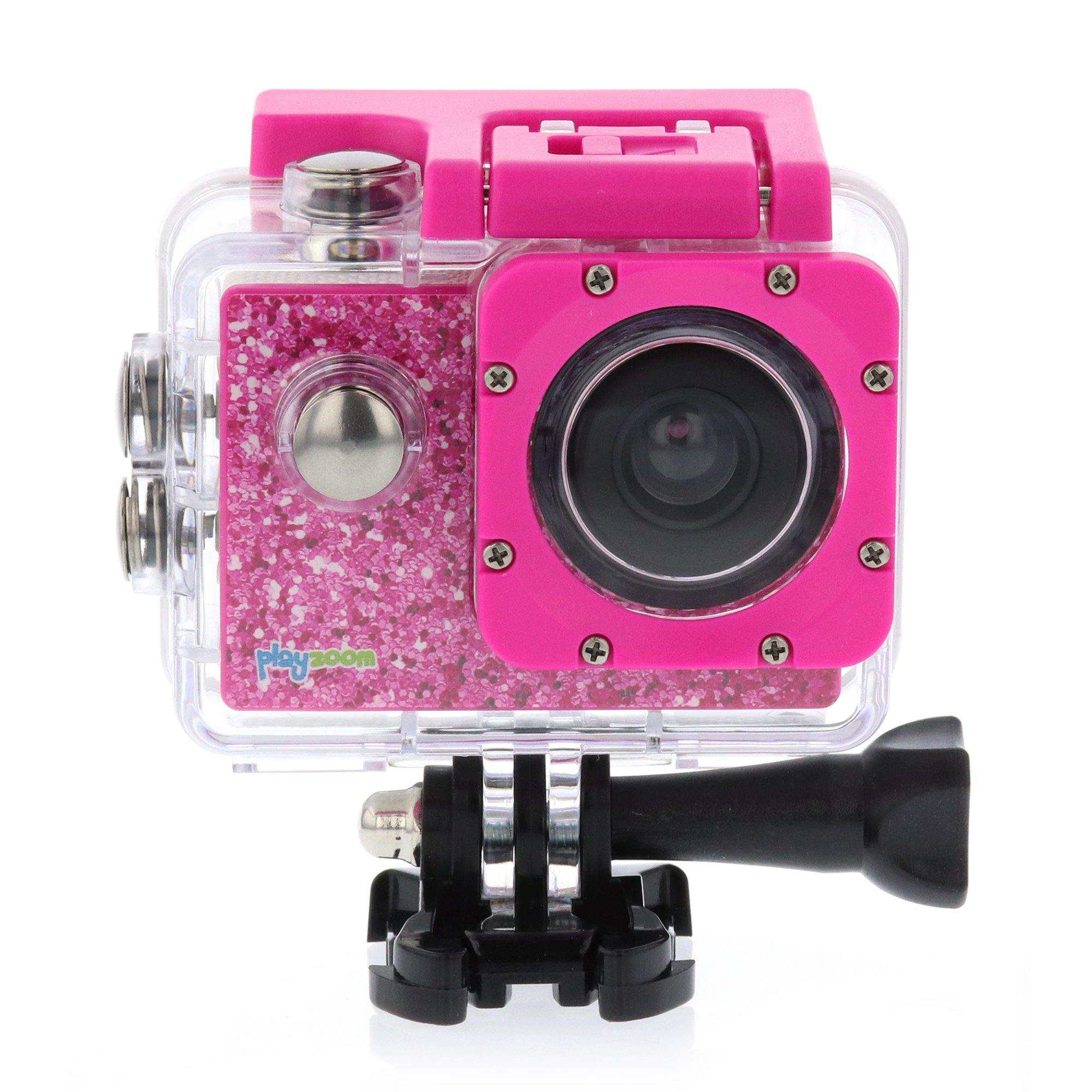 PlayZoom GoCam- Waterproof Kids Action Camera (Pink)
