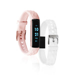 iTouch Slim Fitness Tracker: Blush/White Interchangeable Straps
