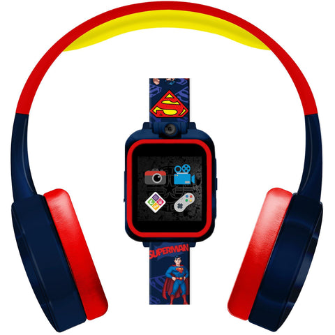 Superman PlayZoom Kids Smartwatch with Headphones: Navy Blue