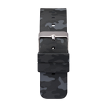 iTouch Air & Pulse Smartwatch Strap with Buckle: Grey Camouflage with Silver Buckle