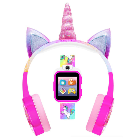 PlayZoom Kids Smartwatch with Headphones: Rainbow Unicorn