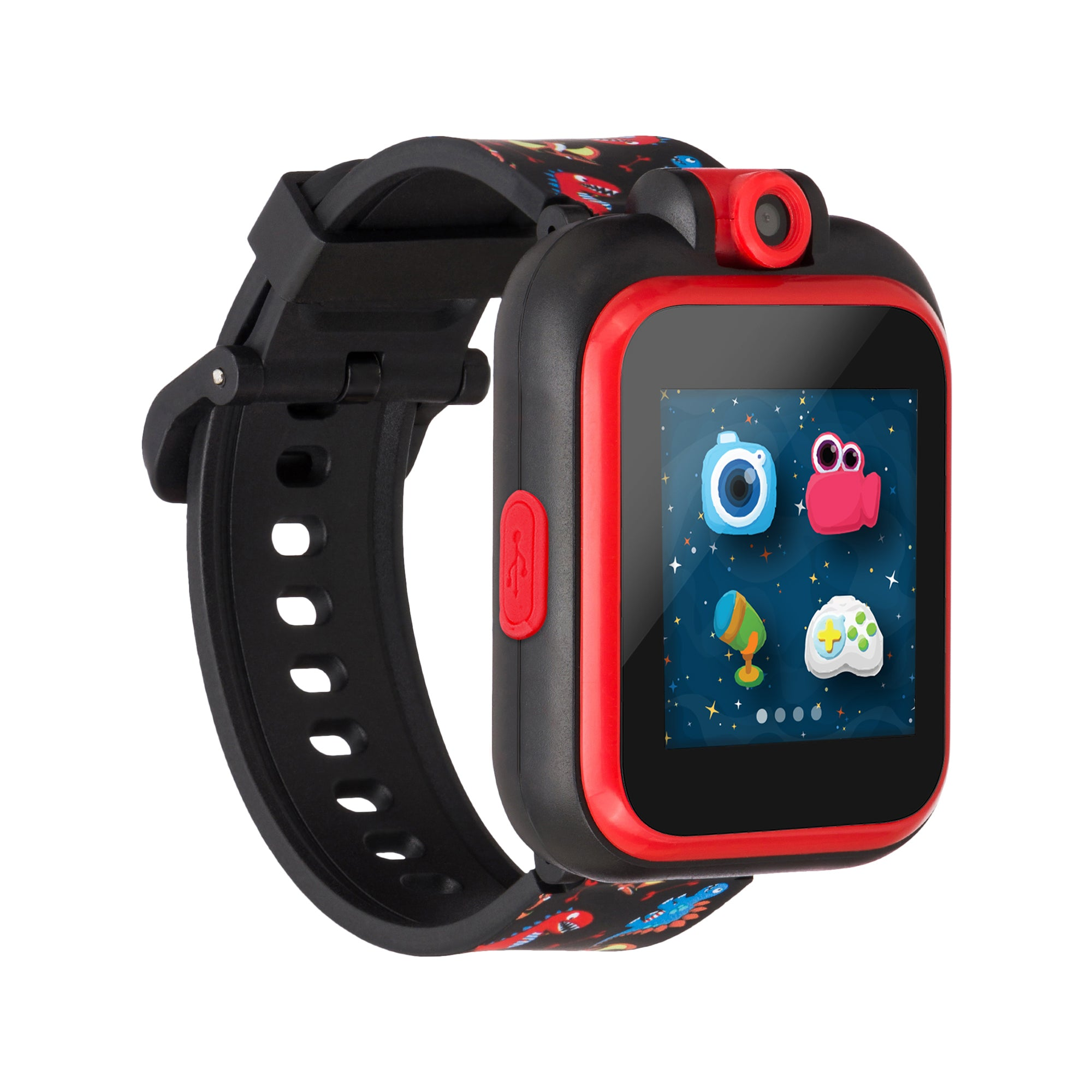 PlayZoom Smartwatch For Kids: Black with Dinosaur Print