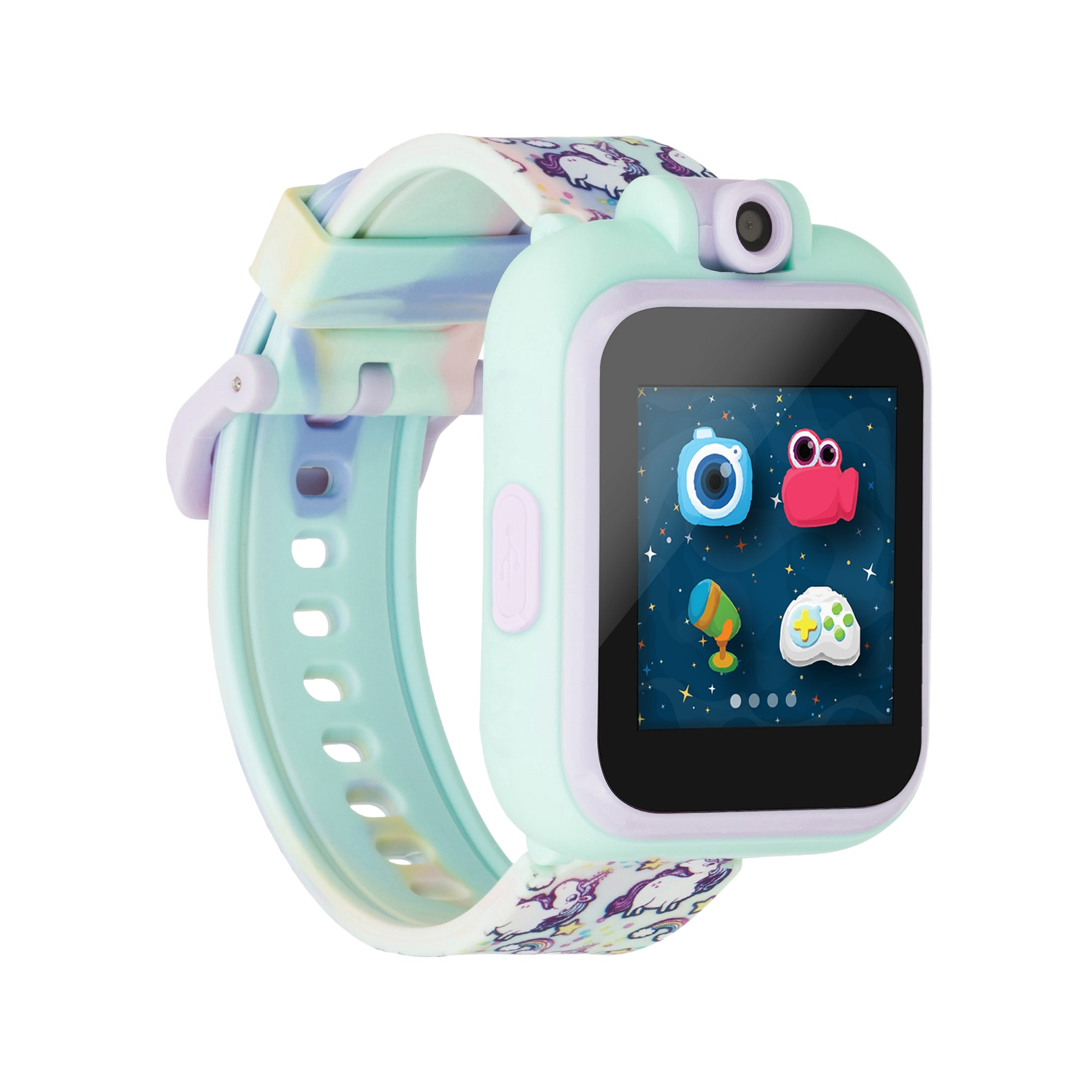PlayZoom Smartwatch For Kids: Tie Dye with Unicorns Print