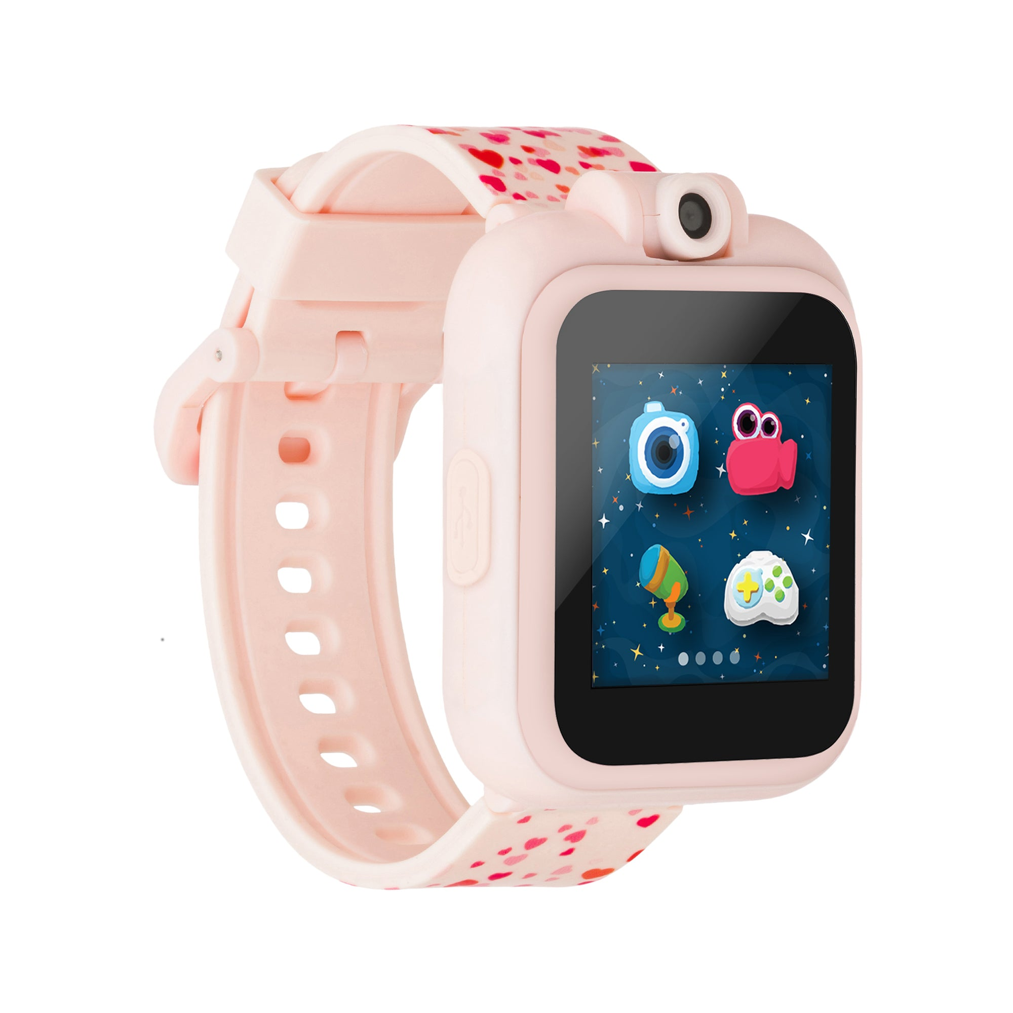 PlayZoom Smartwatch For Kids: Blush with Hearts Print
