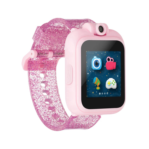 iTouch PlayZoom Smartwatch For Kids: Glitter Fuchsia Print