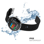 iTouch Sport Smartwatch: Silver Case With Black Strap
