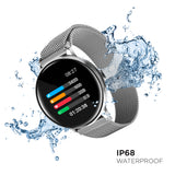 iTouch Sport Smartwatch: Silver Case With Silver Strap