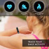 iTouch Slim Fitness Tracker: Zebra Print/Black Interchangeable Straps