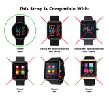 iTouch Sport Perforated Silicone Strap: Black/Fuchsia
