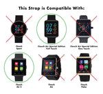 iTouch Air SE Perforated Silicone Strap: Black/Grey