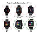 iTouch Air & Pulse Smartwatch Strap with Buckle: Black with Silver Buckle