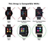 iTouch Air & Pulse Smartwatch Strap with Buckle: Navy with Silver Buckle