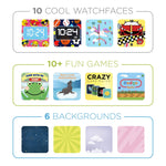 iTouch PlayZoom Smartwatch For Kids: Black Airplane Print