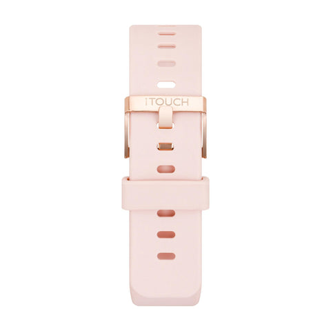 iTouch Air 2 Smartwatch Strap: Blush with Rose Gold Buckle