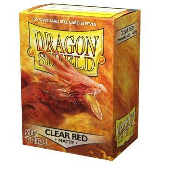 Dragon Shield Matte Sleeves - Clear Red (100 Sleeves) - Ventura Games