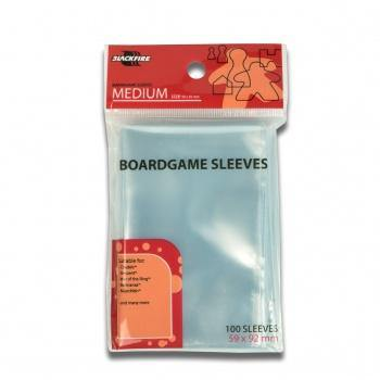 Blackfire Sleeves - Boardgame Sleeves - Medium (59x92mm) - 100 Pcs - Ventura Games