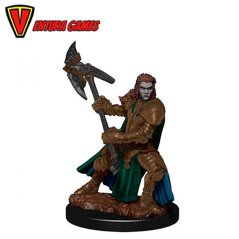 D&D Icons of the Realms: Premium Painted Figure - Half-Orc Fighter Female - Ventura Games