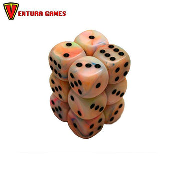 Chessex Dice Blocks - Festive Circus with black (12 Dice) - Ventura Games