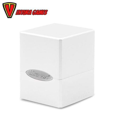 UP - Deck Box - Satin Cube - Arctic White - Ventura Games