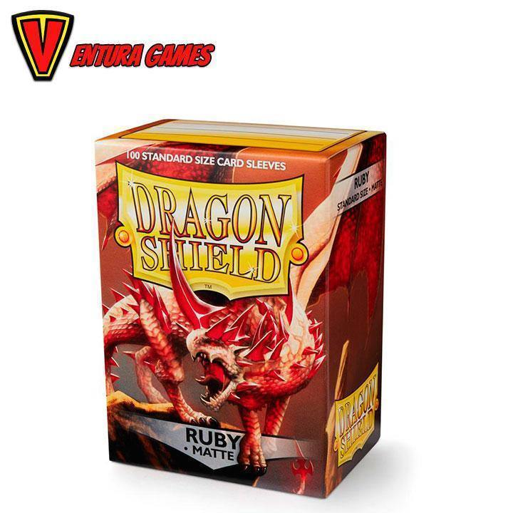 Dragon Shield Matte Sleeves - Ruby (100 Sleeves) - Ventura Games