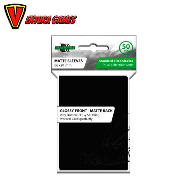 Products Blackfire Standard Sleeves - Black (50 Sleeves) - Ventura Games
