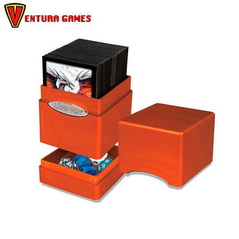 UP - Deck Box - Satin Tower - Hi-Gloss Pumpkin - Ventura Games