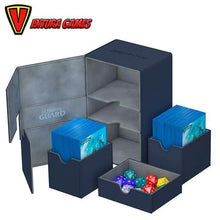 Ultimate Guard Twin Flip´n´Tray Deck Case 160+ Standard Size XenoSkin - Blue - Ventura Games