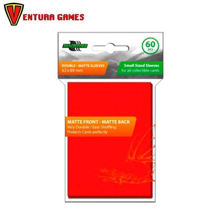 Blackfire Small Sleeves - Double - Matte Red - Ventura Games